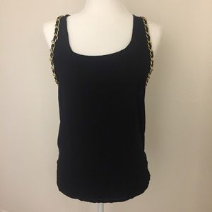 Topshop Racerback Tank Top Gold Chain Size 4